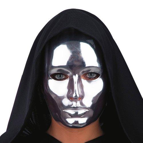 Theater-Maske für Erwachsene Silber Einheitsgröße ()