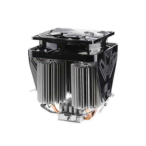 LESHP F4 - Prozessorkühler mit 90 mm PWM Lüfter - CPU Kühler für AMD und Intel Sockel bis zu 200 Watt Kühlleistung