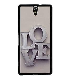 FUSON Love Letters In Metals Designer Back Case Cover for Sony Xperia C5 Ultra Dual :: Sony Xperia C5 E5533 E5563
