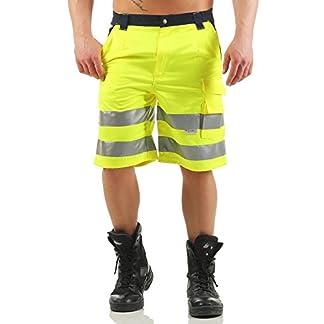 Mivaro Bermuda Alta Visibilidad, Pantalones Cortos de Trabajo para Caballero