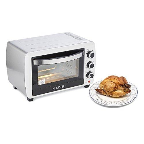 Klarstein Omnichef 20 2G Mini-four (20 L, 1500W, régulateur température: max. 230 °C, 5 fonctions de cuisson dont rôtissoire, plaque et grille incluses) - blanc