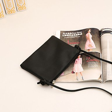 YJIUX Frauen Schultertasche PU alle Jahreszeiten Hochzeit Event / Party Casual offizielles Büro & Karriere Sling Bag Pattern/Drucken ZipperBlushing Rosa Schwarz Blushing Pink