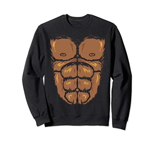Kostüm Halloween Bigfoot - Lustiges Gorilla Bigfoot Kostüm Halloween-Outfit Sweatshirt