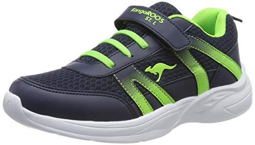 KangaROOS Unisex-Erwachsene Inko EV Sneaker, Blau (Dk Navy/Lime 4054), 37 EU