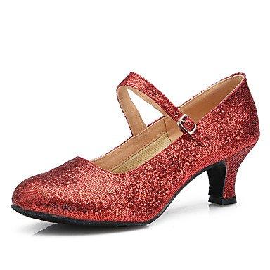 XIAMUO Chaussures de danse Suede / Patent Cuir Daim cuir / Amérique / talon aiguille talons moderne Pratique/IndoorBlack,CORAL,US5.5 / EU36 / UK3.5 / CN35