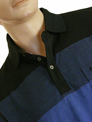 blau gestreiftes hajo-Kurzarmpolo Blau/Streifen