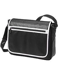 HALFAR - sac rétro sacoche bandoulière étudiant imitation cuir 1807541 - noir - mixte homme/femme
