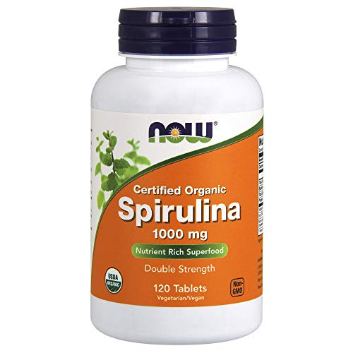 NOW NF Spirulina Organic 1000 mg, 120 tablets -