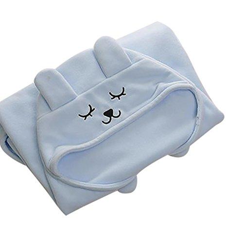 Happy Cherry Neugeborene Baby Wickeldecke Swaddle Multifunktionale Wrap Decke Niedlicher Kapuzen Schlafsack Weiche Warme Pucktuch