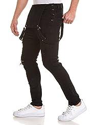 BLZ jeans - Salopette noire déchirée