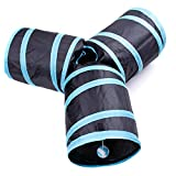 Aotletes Cat Tunnel Pet Toy Tunnel 3 Way Collapsible Cat Tube Crinkle Pop Up Tunnel Set Cat Tunnels and Tubes