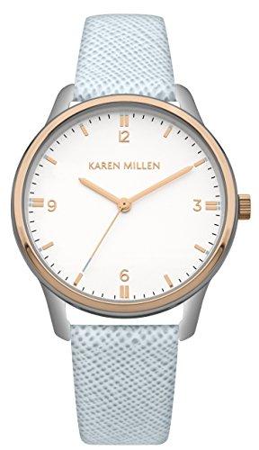 Karen Millen Reloj Análogo clásico para Mujer de Cuarzo con Correa en Cuero KM167U