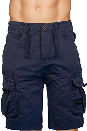 Mens Crosshatch Crossfin Camo Utility Cargo Shorts