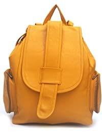 Vintage Women's Backpack Handbag (Mustard,Bag 164)