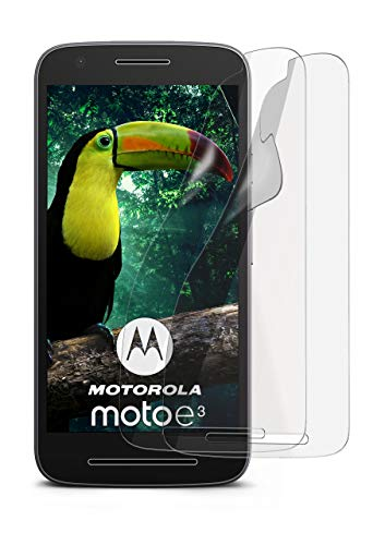 2X Lenovo Moto E3 | Schutzfolie Matt Bildschirm Schutz [Anti-Reflex] Screen Protector Fingerprint Handy-Folie Matte Bildschirmschutz-Folie für Motorola Moto E3 Bildschirmfolie