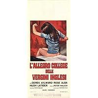 Escuela para Sex Póster de película italiana 13x 28en–34cm x 72cm Derek Aylward rosa Alba Bob Andrews Vic sabios Hugh Latimer Nosher Powell