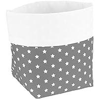 Sugarapple Utensilo (35 Farben wählbar) Stoff Aufbewahrungsbox aus Baumwolle 19 x 13,5 x 13,5 cm, Stoffbox fürs Bad, als Wickeltisch Organizer oder Windelspender Korb
