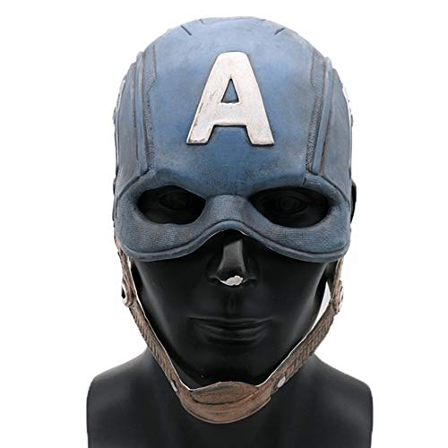 JUFENG Captain America 3 Civil War Mask Rächer Endspiel Cosplay Halloween Helm,Blue