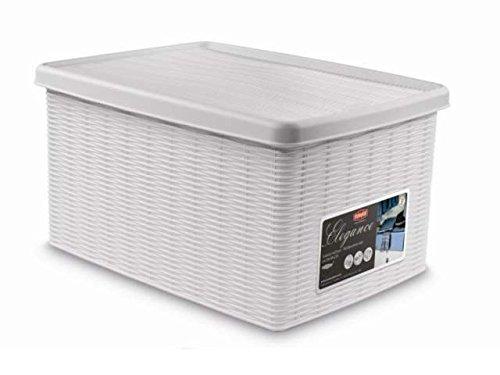 Fußball 16 Box Case (Elegante weiße Behälter Box mit Deckel 19x 29x 16cm stf599)