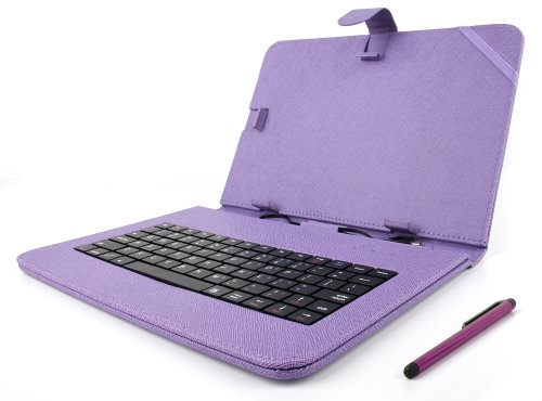 duragadget custodia ttastiera  DURAGADGET Custodia/Tastiera Viola Per Tablet Di 10.1