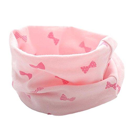 Fuibo Baby Schal, Neue Herbst Winter Jungen Mädchen Baby Niedlichen Schal Baumwolle O Ring Neck Schals (Pink)