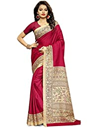 Design Willa Women's Printed Saree With Blouse Piece DWshr0437_Multicolour_Free Size