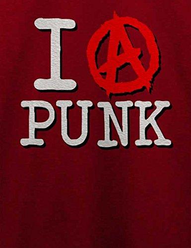 I Love Punk T-Shirt Bordeaux