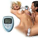 Estim Sex/Elektro Shock Set mit 4 Pads, Elektrostimulation Patch für Nippel/Brust/Klitoris Stimulation, Reizstrom-Gerät Massagegerät Sexspielzeug für Frauen, Männer, Paare