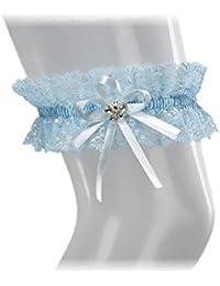 BrautChic XL XXL Liga elástica a la boda - PLUS SIZE - cristales brillantes en forma de mariposa - BLANCO - MARFIL - AZUL