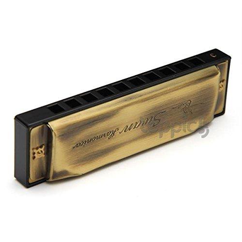 Swan 10 Löcher 20 Ton Mundharmonikas Mundharmonika in C Bronzefarbe