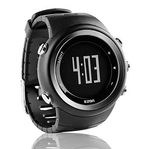 EZON T023 Herren Digital Sportuhren Großes Display für Outdoor Laufen mit 5ATM Wasserdicht/Kalorienzähler/Stoppuhr/Schrittzähler/Alarm/Stoppuhr Funktionen