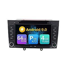 ZERTRAN Android 9.0 Core PX6 A72 4G+64G Navigazione GPS per auto Multimedia Player Car Stereo FOR Peugeot 308 2011 2012 2013