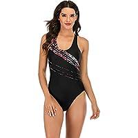 bañadores Mujer Natacion,Conjunto de Bikini de Bikini de una Pieza con Estampado Sexy de una Pieza para Mujer