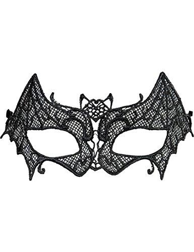 Vampirin-Augenmaske Fledermaus Halloween-Kostümzubehör schwarz (Fledermaus Augenmaske)