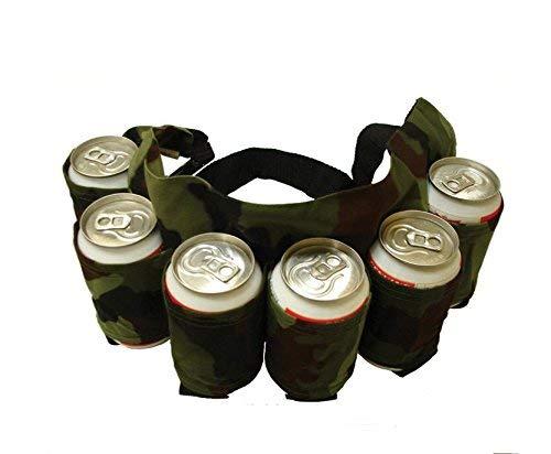 W.S.-YUE Confezione da 6 pezzi Borsa da trasporto per birra con imbottitura in vita per la scalata in campeggio 1066 (Color : Camouflage, Size : M)