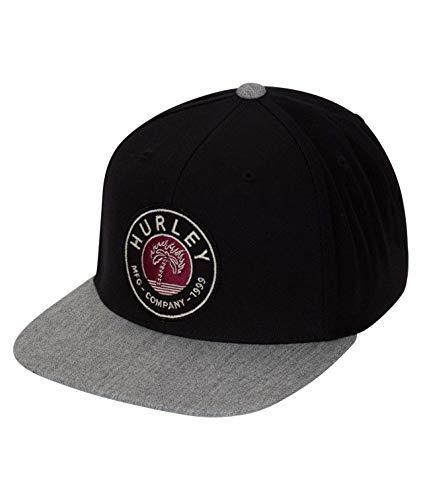 Hurley M Paradise Burns Hat Gorras/Sombreros, Hombre, Black, 1SIZE