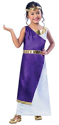 Antike Geschichte Kostüm Griechische - Roman Girl Costume 5-6 yrs