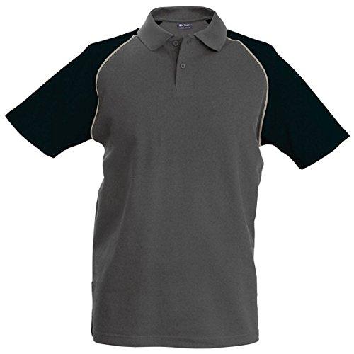 Kariban Baseball polo - Slate Grey/ Light Grey/ Black