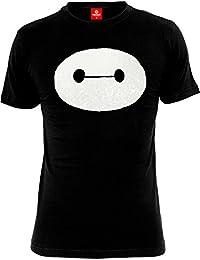 T-shirt Baymax In My Head Disney coton noir