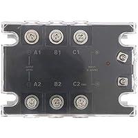 Placa de relé de estado sólido de 3 fases, Módulo sólido de control de maquinaria de relé de semiconductores de DC/AV para procesos Industriales TSR-40DA-H