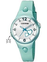 Calypso K5746/6 Reloj de chicas Cuarzo Luz Silicona color verde Tamaño 32 mm