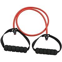 MagiDeal Banda de Resistencia Tubo de Tracción Pilates Cuerda de Yoga Gimnasio Cuerda de Fitness - rojo