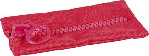 Brunnen 104903123 Schlamper-Etui Colour Code Big Zip (23 x 12 cm) rot / red Code Red Zipper