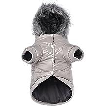 Namsan mascota cachorro perro ropa impermeable y resistente al viento con capucha invierno cálido prendas de vestir Abrigo Outwear
