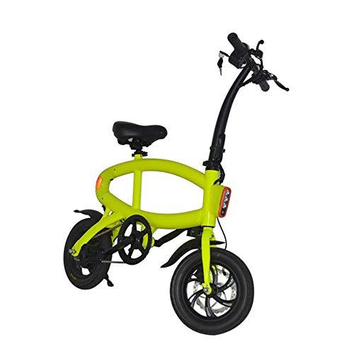 WJH9 Disc Folding Electric Bike, Höchstgeschwindigkeit 25 km/h, 12-Zoll-42V E- Bike mit 6.6Ah Lithium-Batterie tragbaren einfach zu lagern Caravan, Wohnmobil, Boot