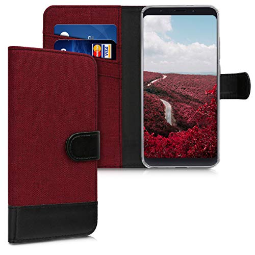 kwmobile Xiaomi Redmi Note 5 (Global Version) / Note 5 Pro Hülle - Kunstleder Wallet Case für Xiaomi Redmi Note 5 (Global Version) / Note 5 Pro mit Kartenfächern und Stand