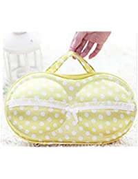 Getko New Lingerie Bra Bag With Pocket(Yellow)
