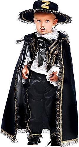 Carnevale Venizano CAV50571-2 - Kleinkindkostüm CAVALIERE MASCHERATO Prestige NEONATO - Alter: 0-3 Jahre - Größe: 2 (Carnevale Kostüm Neonato)