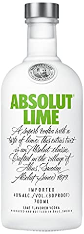 Absolut Lime Flavoured Vodka, 70 cl