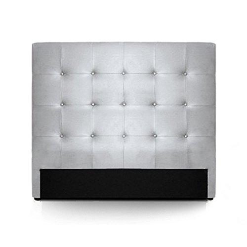 INTENSEDECO Intense Déco – Tête de lit capitonnée Premium 140 cm Argent